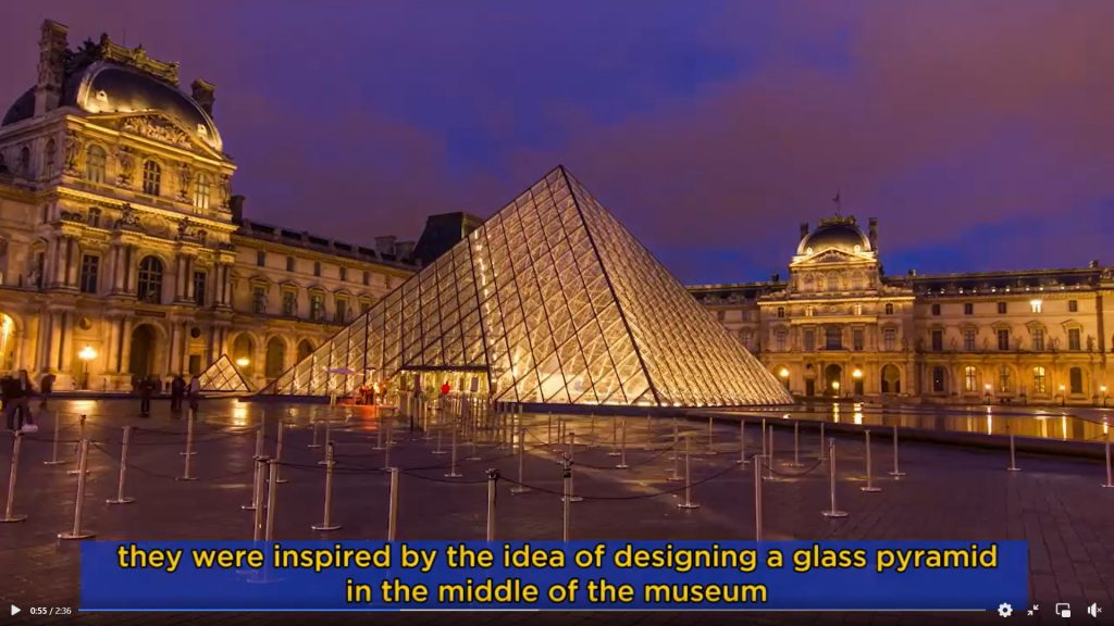 """EU """"Story of the Louvre Museum's pyramid in France"""""""